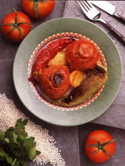 VEGETABLES STUFFED WITH RICE AND FENNEL